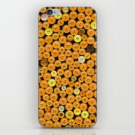 Yellow Buttons Scanograph iPhone Skin