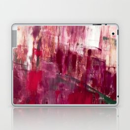Sunset in the Valley [2]: a colorful abstract piece in reds, pink, gold, gray, and white Laptop & iPad Skin