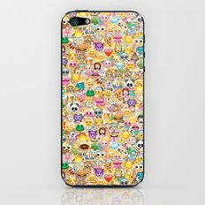 Emoticon pattern iPhone & iPod Skin