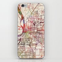 memphis iPhone & iPod Skins featuring Memphis by MapMapMaps.Watercolors