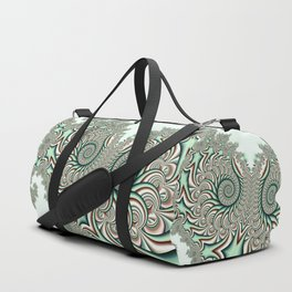 Owl Fractal Chocolate Mint Duffle Bag