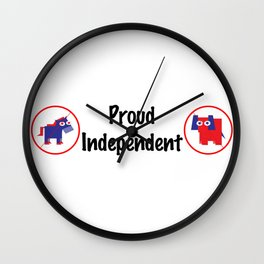 Proud Independent Wall Clock