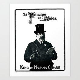 King of Havana Cigars  Art Print