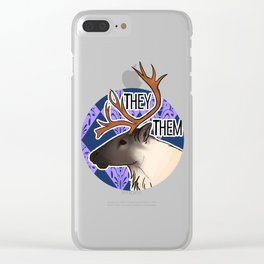They/Them Caribou Clear iPhone Case