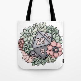 Succulent D20 Tabletop RPG Gaming Dice Tote Bag