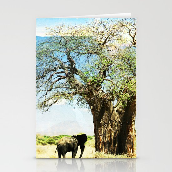 Finding an old friend - elephant in the wild Stationery Cards