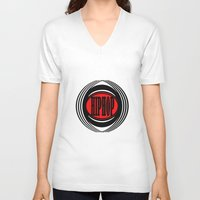 hip hop V-neck T-shirts featuring HIP HOP  by Robleedesigns