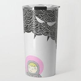 Strong Warrior (Breast Cancer Version) Travel Mug