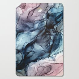 Blush and Darkness Abstract Paintings Cutting Board