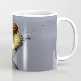 Green Wing Teal Duck  on a Lake Coffee Mug