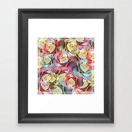Technicolor Petal | Floral Framed Art Print