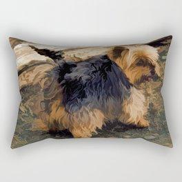Cute Little Yorkie   - Yorkshire Terrier Dog Rectangular Pillow