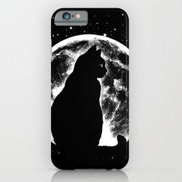 Cat Moon Silhouette iPhone Case