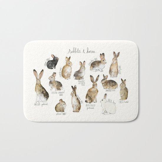 Rabbits & Hares Bath Mat