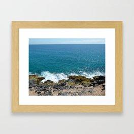 Fuerteventura's ocean cost Framed Art Print