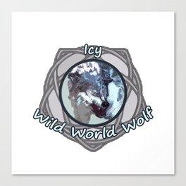 Icy Wild World Wolf Canvas Print