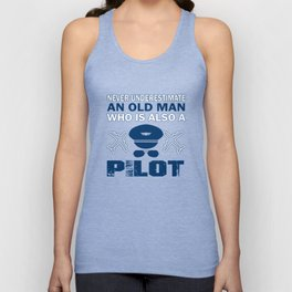 Old Man - A Pilot Unisex Tank Top