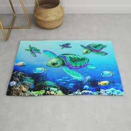 Sea Turtles Dance Rug
