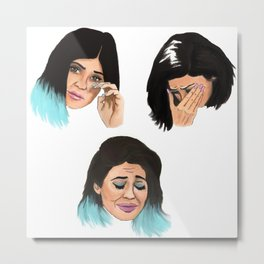 Krying Kylie Jenner Metal Print