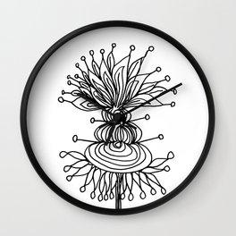 Black Brum Flower Wall Clock
