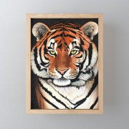 Tiger portrait drawing Framed Mini Art Print