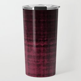 Black maroon mosaic Travel Mug