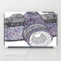 camera iPad Cases featuring camera by smurfmonster