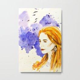 Her Wind Metal Print