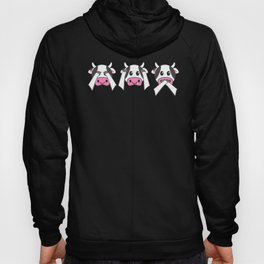 Funny Cows Don't See Don't Hear Don't Speak Cute Design Hoody