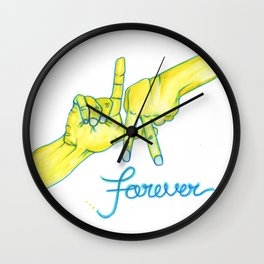 Lakers Forever Wall Clock