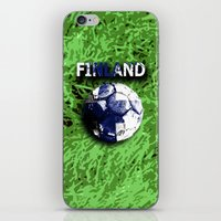 finland iPhone & iPod Skins featuring Old football (Finland) by seb mcnulty