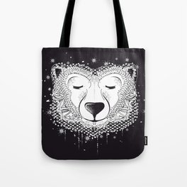 Dreaming Polar Bear Tote Bag
