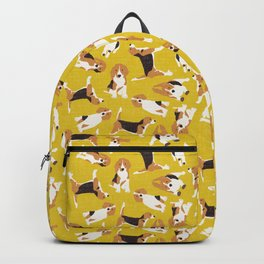 beagle scatter yellow Backpack