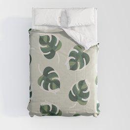 Monstera Cat pattern 1 Comforters