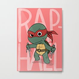 TMNT: Raphael (Cute & Dangerous) Metal Print