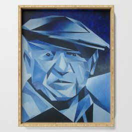 Cubist Portrait of Pablo Picasso: The Blue Period  Serving Tray
