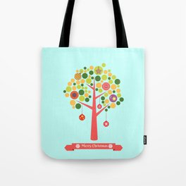 Christmas tree illustration Tote Bag