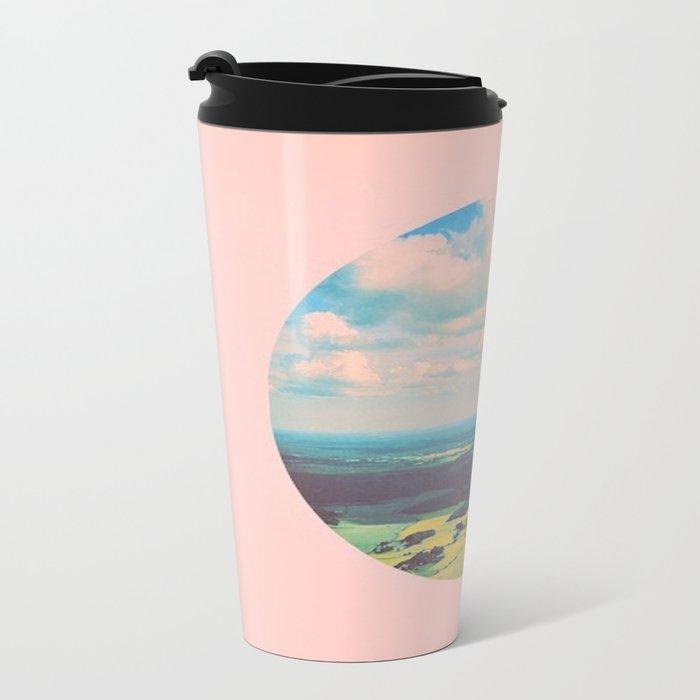 Earthy Pink Metal Travel Mug