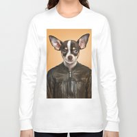 chihuahua Long Sleeve T-shirts featuring Chihuahua  by Life on White Creative