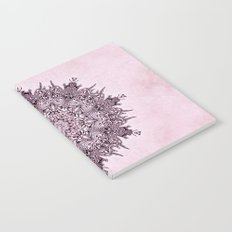 Pink Mandala Fractal Art Notebook