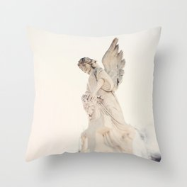 Angel no 2 - St Louis Cemetery, New Orleans Throw Pillow