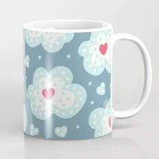 Winter Hearts And Snowy Clouds Mug