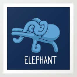 An Elephant (That is Definitely not an Octopus) Art Print