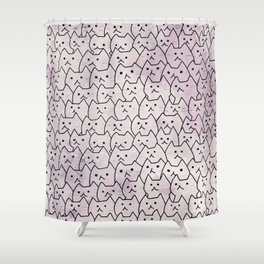 cats new colour 629 Shower Curtain