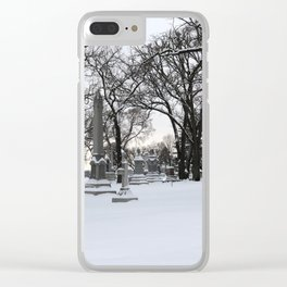 Haunted Winter II Clear iPhone Case