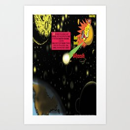 Title: Bird of Steel Comix - Page #2 of 8 (Society 6 POP-ART COLLECTION SERIES) Art Print