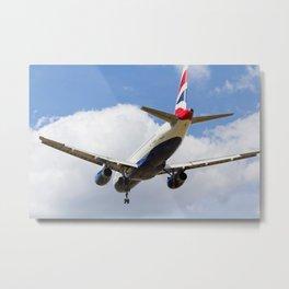 British Airways Airbus A320 Metal Print