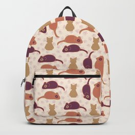 Purple and Pink Cute Cat Stitched Mouse Backpack