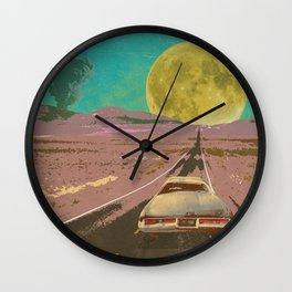 EVENING EXPLOSION II Wall Clock