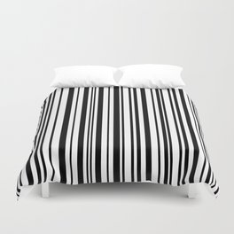 Lines,  Black & White Duvet Cover